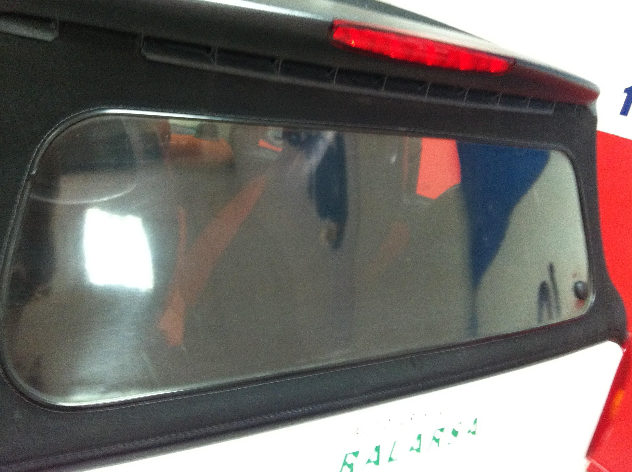 Renovación de lunetas plásticas para capota de lona