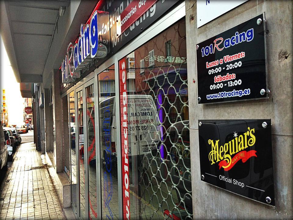 Fachada tienda 101Racing en Las Palmas de Gran Canaria