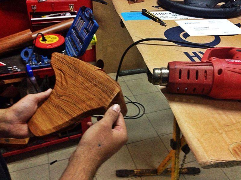 Trabajando el vinilo en madera.