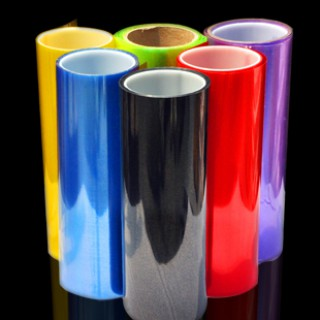 Láminas en colores transparentes para faros.