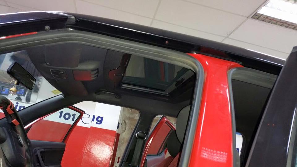 Tapizado interior del Techo Solar Webasto Holladia 300 NGS en color negro.