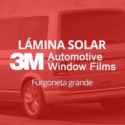 Servicio de instalación de lámina solar para lunas de furgoneta grande en 101Racing