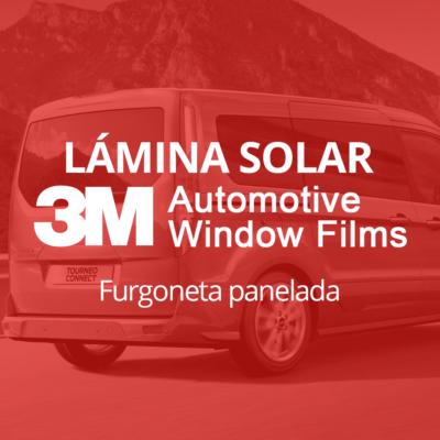 Servicio de instalación de lámina solar para lunas de furgoneta panelada en 101Racing