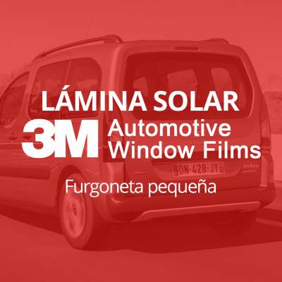 Servicio de instalación de lámina solar para lunas de furgoneta pequeña en 101Racing