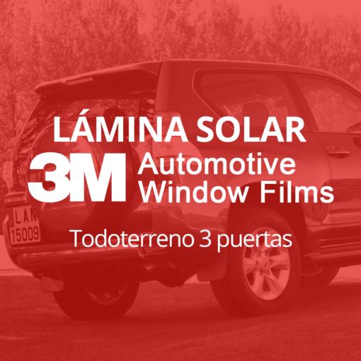 Servicio de instalación de lámina solar para lunas de todoterreno de 3 puertas en 101Racing