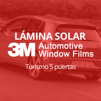 Servicio de instalación de lámina solar para lunas de turismo de 5 puertas en 101Racing