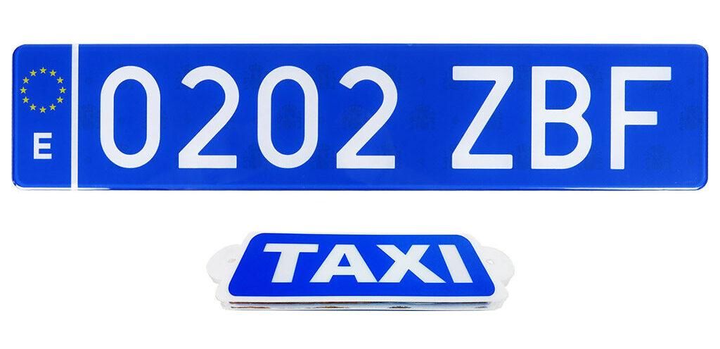 101Racing te trae la matrícula trasera azul obligatoria para taxis y vtc en Canarias