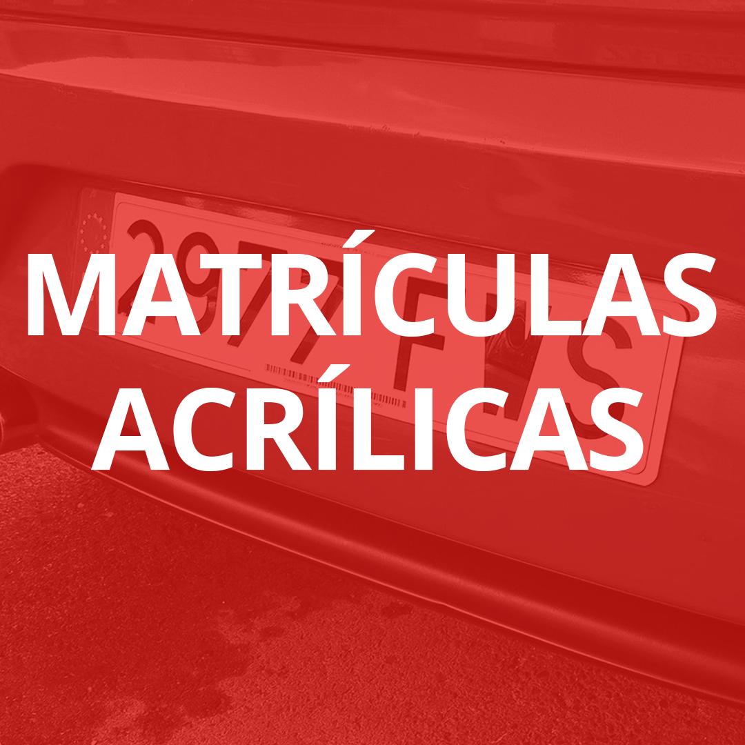 Matrículas acrílicas en Las Palmas