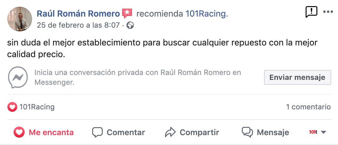 Opinión de clientes sobre 101Racing en Las Palmas