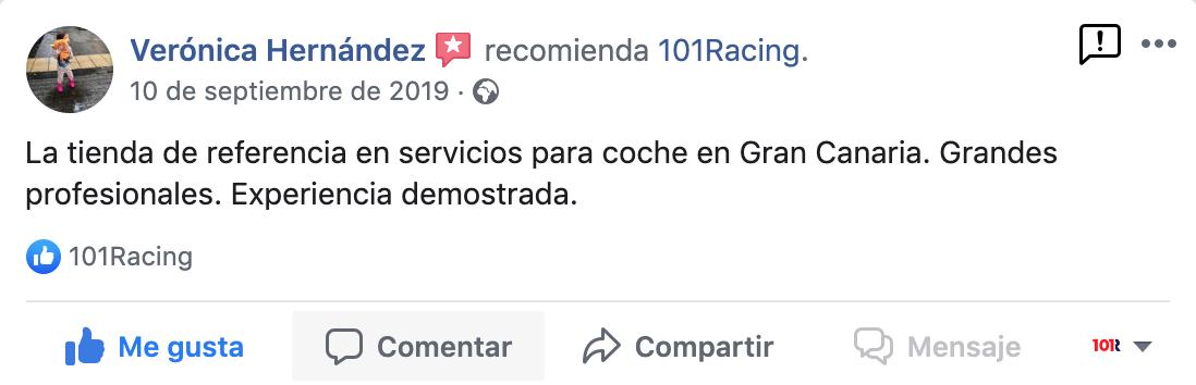 Opinión sobre 101Racing en Canarias